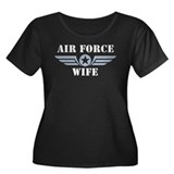 Air Force Wife Women's Plus Size Scoop Neck Dark T
