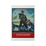 Army Corps of Engineers Rectangle Magnet