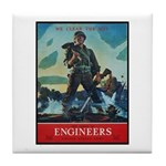 Army Corps of Engineers Tile Coaster