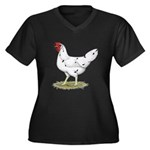 California White Hen Women's Plus Size V-Neck Dark
