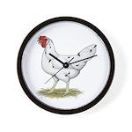California White Hen Wall Clock