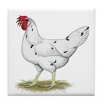 California White Hen Tile Coaster