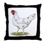 California White Hen Throw Pillow