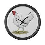 California White Hen Large Wall Clock