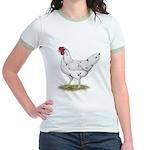 California White Hen Jr. Ringer T-Shirt