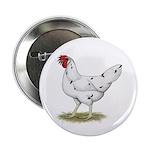 "California White Hen 2.25"" Button (10 pack)"
