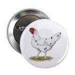 "California White Hen 2.25"" Button"