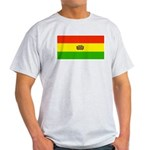 Bolivia Blank Flags Ash Grey T-Shirt