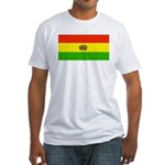 Bolivia Blank Flags Fitted T-Shirt