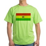 Bolivia Blank Flags Green T-Shirt