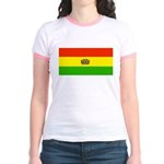 Bolivia Blank Flags Jr. Ringer T-Shirt