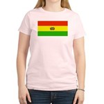 Bolivia Blank Flags Women's Pink T-Shirt