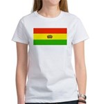 Bolivia Blank Flags Women's T-Shirt
