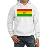 Bolivia Blank Flags Hooded Sweatshirt