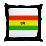 Bolivia Blank Flags Throw Pillow