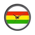 Bolivia Blank Flags Wall Clock