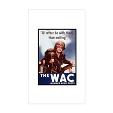 WAC Women's Army Corps Rectangle Decal