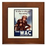 WAC Women's Army Corps Framed Tile