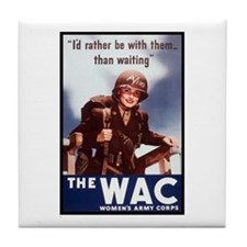 WAC Women's Army Corps Tile Coaster
