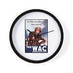 WAC Women's Army Corps Wall Clock