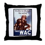 WAC Women's Army Corps Throw Pillow