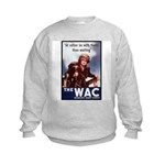 WAC Women's Army Corps (Front) Kids Sweatshirt