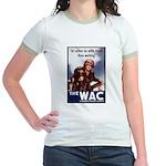 WAC Women's Army Corps Jr. Ringer T-Shirt