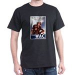 WAC Women's Army Corps (Front) Black T-Shirt