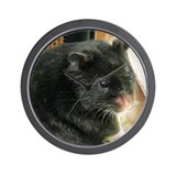 Black Hamster Wall Clock