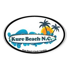 Kure Beach NC - Surf Design Decal