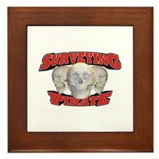Surveying Pirate Framed Tile