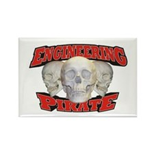 Engineering Pirate Rectangle Magnet