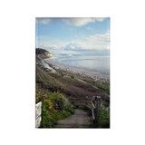 Ebey's Landing View Rectangle Magnet (100 pack)