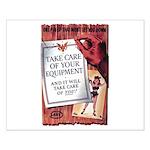 Equipment Care Propaganda Poster Art Small Poster