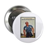Patriotic Wounded Soldier Poster Art Button