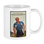 Patriotic Wounded Soldier Poster Art Mug
