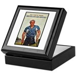 Patriotic Wounded Soldier Poster Art Keepsake Box