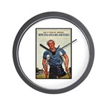 Patriotic Wounded Soldier Poster Art Wall Clock