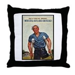 Patriotic Wounded Soldier Poster Art Throw Pillow
