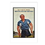 Patriotic Wounded Soldier Poster Art Postcards (Pa