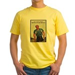 Patriotic Wounded Soldier Poster Art Yellow T-Shir