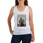 Patriotic Wounded Soldier Poster Art Women's Tank