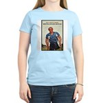 Patriotic Wounded Soldier (Front) Women's Pink T-S