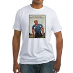 Patriotic Wounded Soldier (Front) Fitted T-Shirt