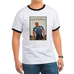 Patriotic Wounded Soldier Poster Art Ringer T