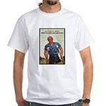 Patriotic Wounded Soldier (Front) White T-Shirt