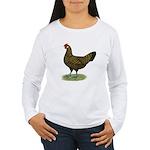 Hamburg Golden Spangled Hen Women's Long Sleeve T-