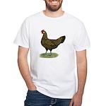 Hamburg Golden Spangled Hen White T-Shirt
