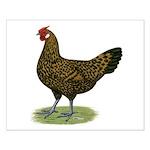 Hamburg Golden Spangled Hen Small Poster