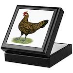 Hamburg Golden Spangled Hen Keepsake Box